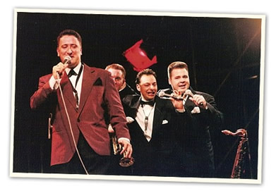 ray gelato band in fifties suits