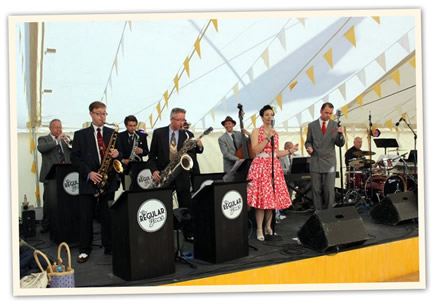 swing music band forties vintage suits