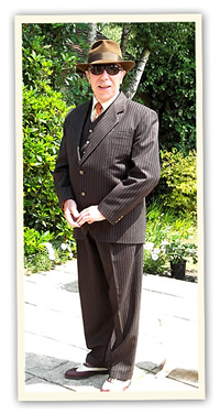 forties pinstripe single breasted retro suit